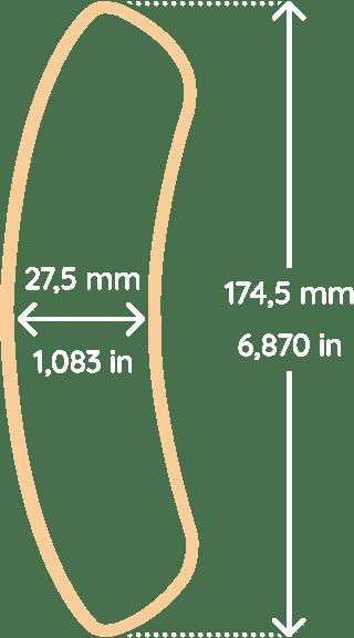 Armrest dimensions